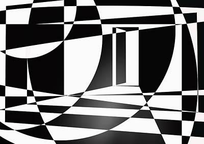 Digital Art - It Isn't Always As Simple As Black And White by Ginny Schmidt