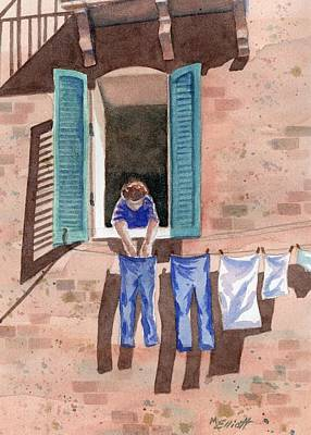 Laundry Painting - It Must Be Monday by Marsha Elliott