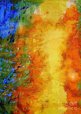 Abstrac Painting - To Be Born Again by Lalo Gutierrez
