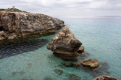 Sail Photograph - It Rocks 2 - Close To Son Bou Beach And San Tomas Beach Menorca Scupted Rocks And Turquoise Water by Pedro Cardona