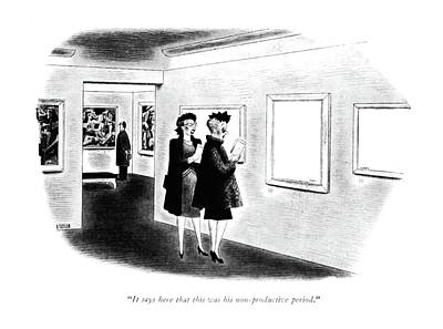 Lady Artist Drawing - It Says Here That This Was His Non-productive by Richard Taylor