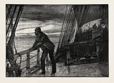 H Drew Drawing - It Seemed An Eternity Ere The Cold Grey Of Dawn Hovered by Overend, William Heysham (1851-1898), British