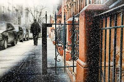 It Snows In Harlem Art Print by Diana Angstadt