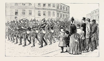 Cheerful Drawing - It Was A Bright Cheerful Morning When, On Arrival by English School