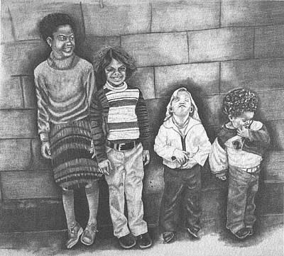 Drawing - It Wasn't Me by Phyllis Anne Taylor Pannet Art Studio