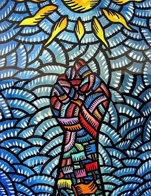 Painting - Itaas Sa Bagong Araw Raise To The New Day by Marconi Calindas