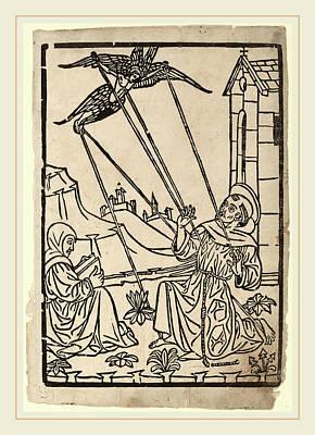 Italian 15th Century, Saint Francis Receiving The Stigmata Art Print