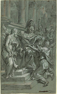 Restored Drawing - Italian 17th Century, Scipio Restoring His Captive by Quint Lox