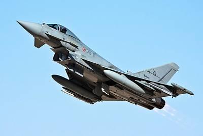 Warplane Photograph - Italian Air Force Eurofighter Typhoon by Photostock-israel