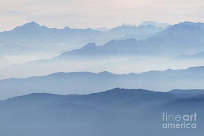 Italian Alps In The Mist Art Print by Matteo Colombo