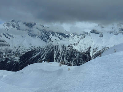 Photograph - Italian Alps Ski Slope by Frank Wilson