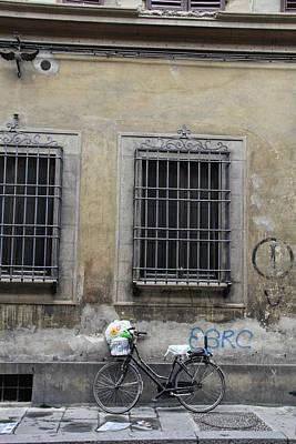 Italian Bicycle Art Print by Nancy Ingersoll