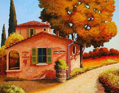 Cantina Painting - Italian Cantina by Santo De Vita