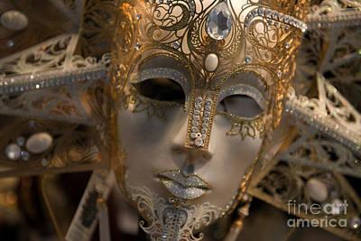 Photograph - Italian Carnival Female Mask by Jaroslaw Blaminsky