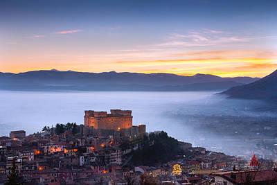 Italian Castle At Sunset  Art Print