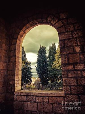 Photograph - Italian Church Window by Silvia Ganora
