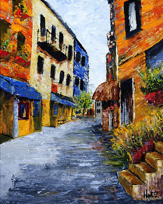 Painting - Italian Cityscape by Scott Hoke