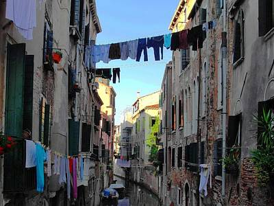 Italian Clotheslines Art Print by Natalie Ortiz