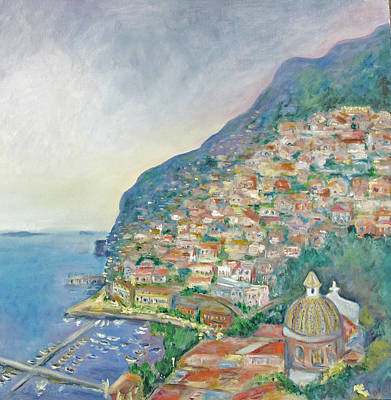 Italian Coast At Dusk Art Print