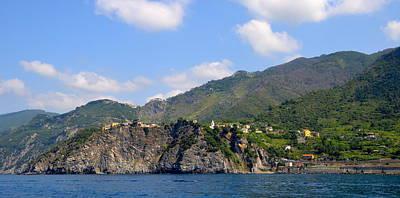 Grape Vines Photograph - Italian Coastline by Corinne Rhode