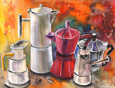 Painting - Italian Coffee Party by Miki De Goodaboom