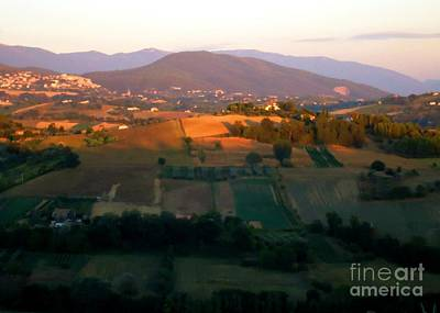 Photograph - Italian Countryside In Fall by Barbie Corbett-Newmin