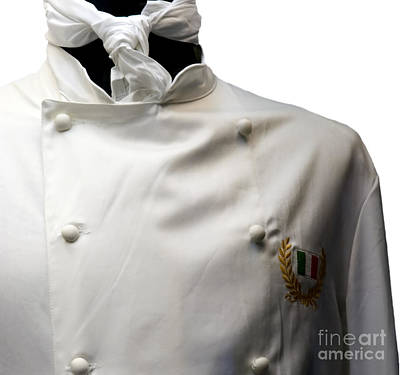 Photograph - Italian Culinary Uniform by Phil Cardamone