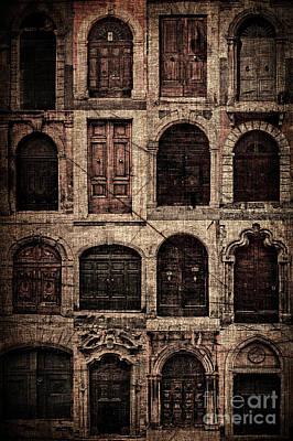 Italian Doors. Art Print by Juan Nel