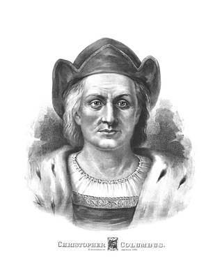 Explorer Drawing - Italian Explorer Christopher Columbus by War Is Hell Store