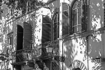 Photograph - Italian Facade In Bw by Prints of Italy