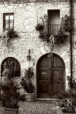 Photograph - Italian Facade Of Assisi by Prints of Italy