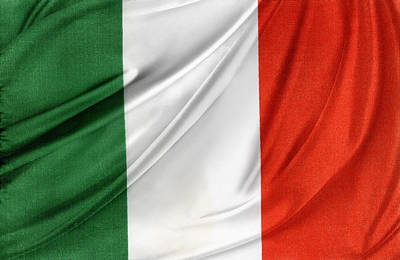 Waving Flag Photograph - Italian Flag  by Les Cunliffe