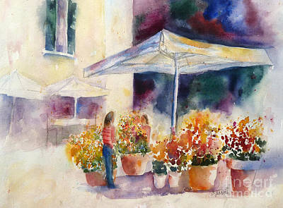 Painting - Italian Flower Market by Carolyn Jarvis