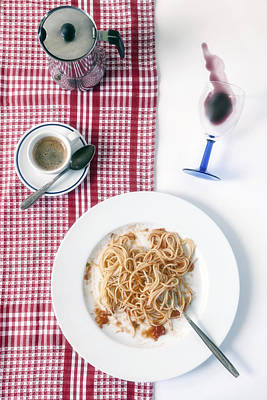 Tableware Photograph - Italian Food by Joana Kruse