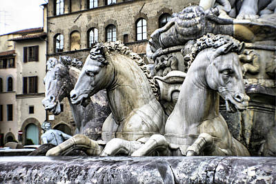 Italian Fountain Art Print by Greg Sharpe