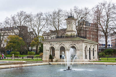 Photograph - Italian Fountain In London Hyde Park by Semmick Photo
