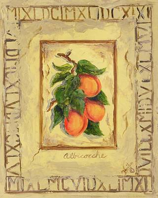 Apricot Painting - Italian Fruit Apricots by Marilyn Dunlap