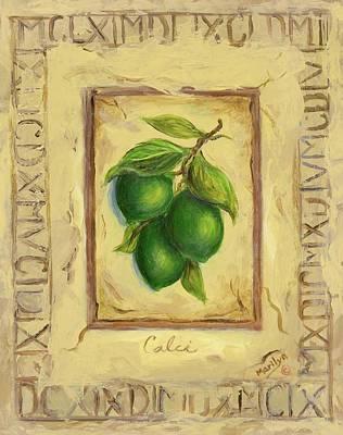 Rural Art Painting - Italian Fruit Limes by Marilyn Dunlap