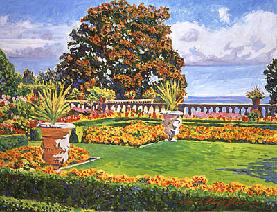 Painting - Italian Gardens Ocean View by David Lloyd Glover