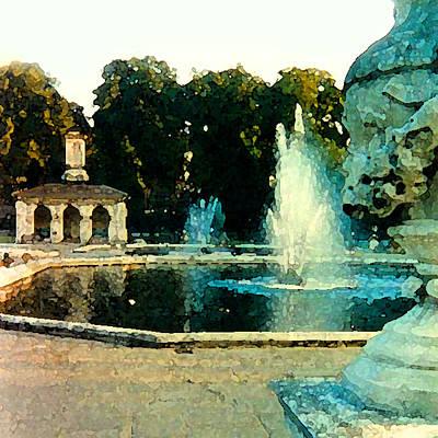 Hyde Park Digital Art - Italian Gardens by Sean Piggott