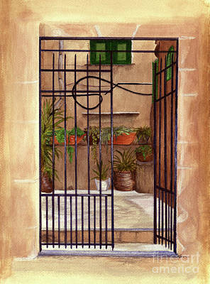 Painting - Italian Gate by Nan Wright