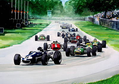 Painting - Italian Gp     1967 by Steve Jones