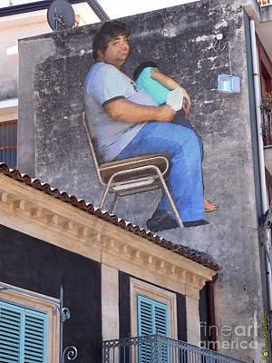 Sicily Digital Art - Italian Graffiti - Day By Day 08 by Renato Ventura
