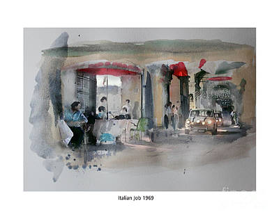 1969 Mixed Media - Italian Job 1969 by Roger Lighterness