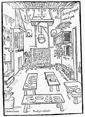 Italian Kitchen, 1570 Art Print