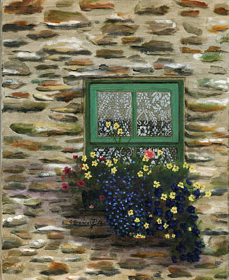 Italian Lace Window Box Art Print by Cecilia Brendel