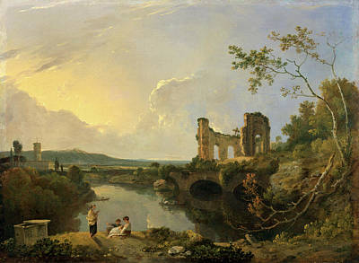 Italian Landscapes Painting - Italian Landscape Morning, Richard Wilson by Litz Collection