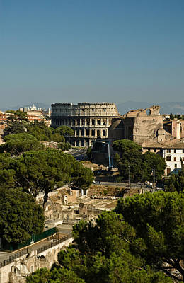 Photograph - Italian Landscape With The Colosseum Rome Italy  by Marianne Campolongo