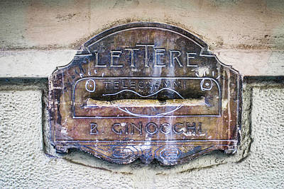 Photograph - Italian Letter Box Color Enhanced by Karen Stephenson