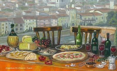 Italian Lunch Art Print
